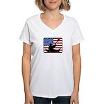 American Canoeing Women's V-Neck T-Shirt