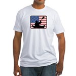 American Canoeing Fitted T-Shirt