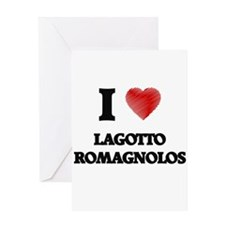 I love Lagotto Romagnolos Greeting Cards
