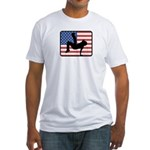 American Breakdancing Fitted T-Shirt