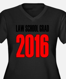 Unique Law school graduation Women's Plus Size V-Neck Dark T-Shirt