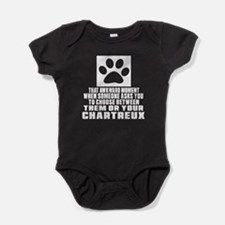 Awkward Chartreux Cat Designs Baby Bodysuit