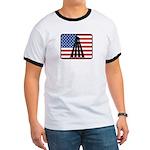 American Badminton Ringer T