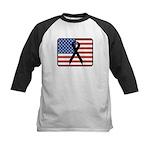 American Awareness Kids Baseball Jersey