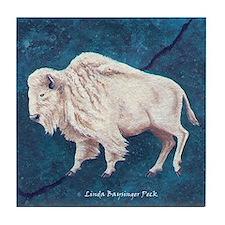 White Buffalo Tile Coaster