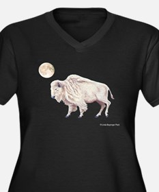 White Buffalo Women's Plus Size V-Neck Dark T-Shir