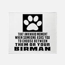 Awkward Birman Cat Designs Throw Blanket