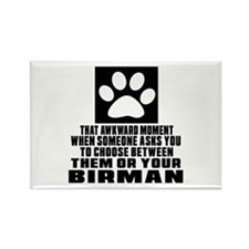 Awkward Birman Cat Designs Rectangle Magnet