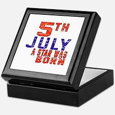 5 July A Star Was Born Keepsake Box