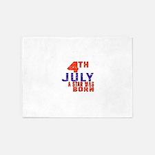 4 July A Star Was Born 5'x7'Area Rug