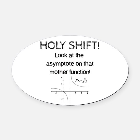 Holy Shift! Oval Car Magnet