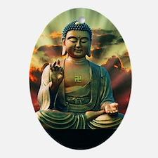 Buddha Sunrise Oval Ornament