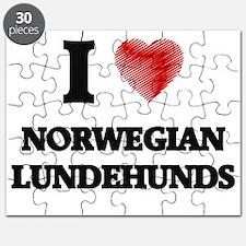 I love Norwegian Lundehunds Puzzle