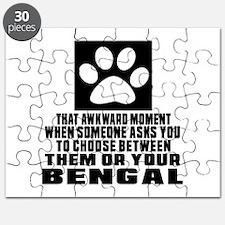 Awkward Bengal Cat Designs Puzzle