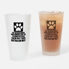 Awkward Australian Mist Cat Designs Drinking Glass