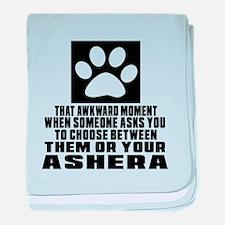 Awkward Ashera Cat Designs baby blanket