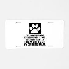 Awkward Ashera Cat Designs Aluminum License Plate
