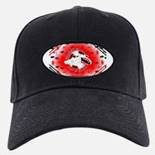Red and Black Football Soccer Baseball Hat