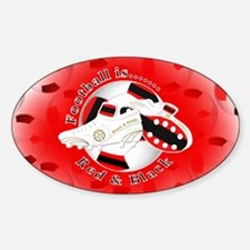 Red and Black Football Soccer Decal