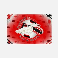 Red and Black Football Soccer Magnets