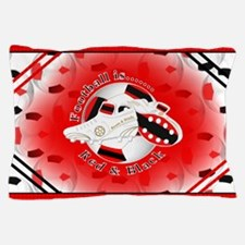Red and Black Football Soccer Pillow Case