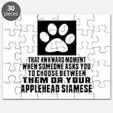 Awkward Applehead siamese Cat Designs Puzzle