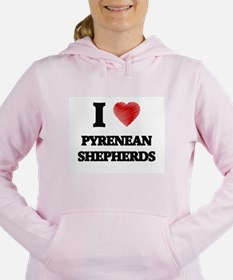 I love Pyrenean Shepherd Women's Hooded Sweatshirt