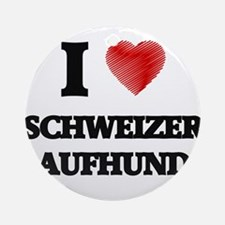 I love Schweizer Laufhunds Round Ornament