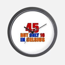 45 But Only 16 In Celsius Wall Clock