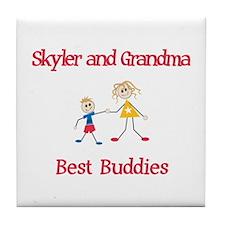 Skyler & Grandma - Buddies Tile Coaster