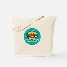 Retro 1950s Diner Hamburger Circle Tote Bag