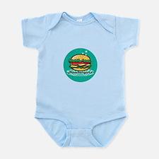 Retro 1950s Diner Hamburger Circle Body Suit