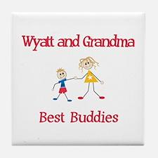 Wyatt & Grandma - Buddies Tile Coaster
