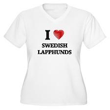 I love Swedish Lapphunds Plus Size T-Shirt
