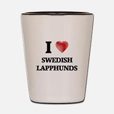 I love Swedish Lapphunds Shot Glass