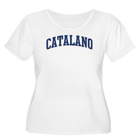 CATALANO design (blue) Women's Plus Size Scoop Nec
