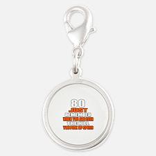 80 Just Remember Birthday Desi Silver Round Charm