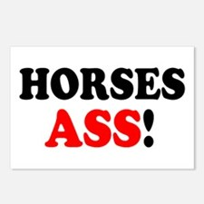 HORSES ASS! - Postcards (Package of 8)