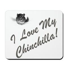 I Love My Chinchilla Mousepad
