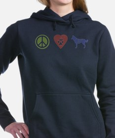 Cute Malamute dog Women's Hooded Sweatshirt