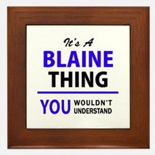 It's BLAINE thing, you wouldn't unders Framed Tile