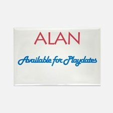 Alan - Available for Playdate Rectangle Magnet (10