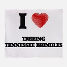 I love Treeing Tennessee Brindles Throw Blanket