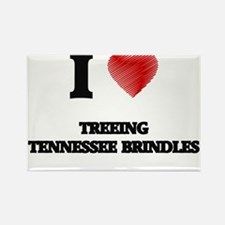I love Treeing Tennessee Brindles Magnets