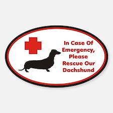 Dachshund Emergency Alert Decal