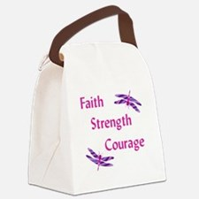 Faith Strength Courage Canvas Lunch Bag
