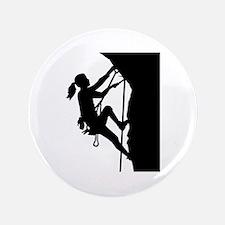 Climbing woman girl Button