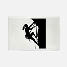 Climbing woman girl Rectangle Magnet