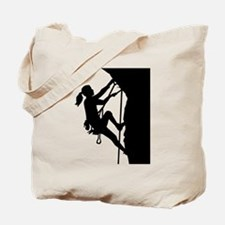 Climbing woman girl Tote Bag