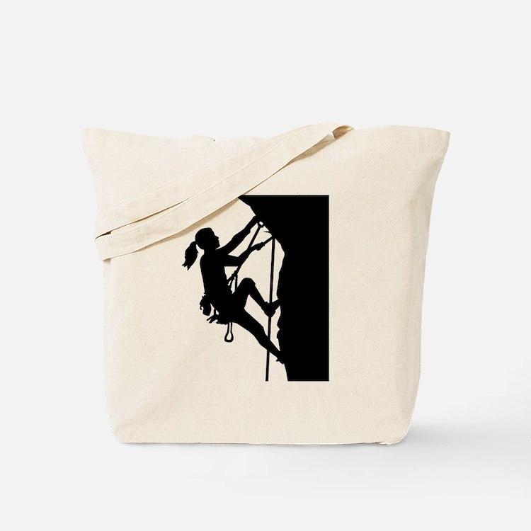 Climbing woman girl Tote Bag